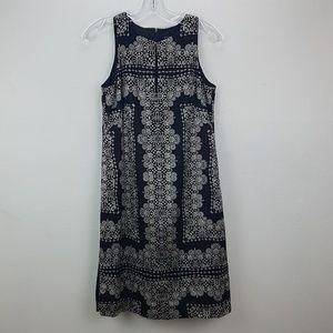Nanette Lepore Silk Sleeveless Mosaic Print Black